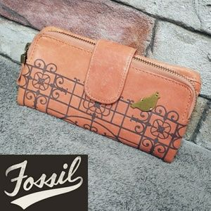 Fossil Genuine Leather Bi Fold Embossed Wallet